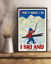 That's What I Do Skiing 16x24 Poster lifestyle-poster-3