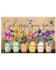 Hummingbird Bible God Say You Are Flowers 17x11 Poster front