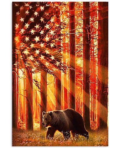 Hunting Bear in the sun flag