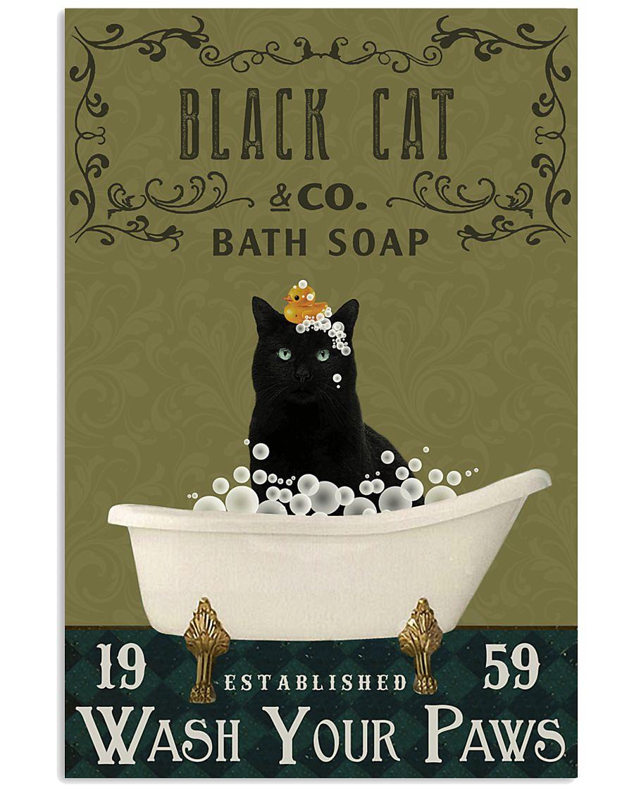Olive Bath Soap Company Black Cat 11x17 Poster