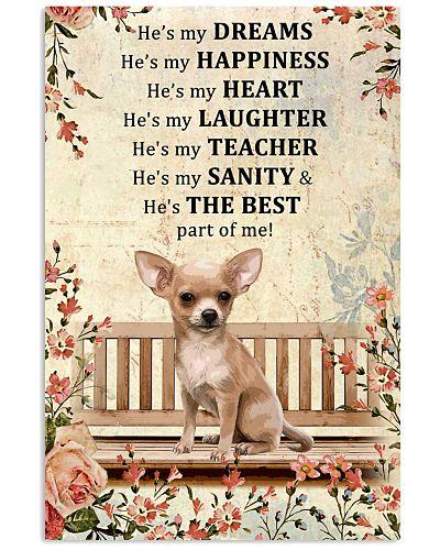 He's My Dream He's My Happiness Chihuahua