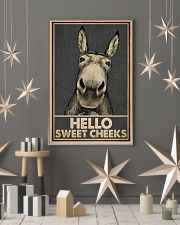 Gray Hello Sweet Cheeks Donkey 16x24 Poster lifestyle-holiday-poster-1