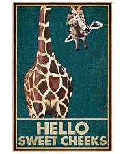 Retro Green Giraffe Hello Sweet Cheeks 16x24 Poster front