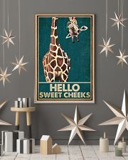 Retro Green Giraffe Hello Sweet Cheeks 16x24 Poster lifestyle-holiday-poster-1