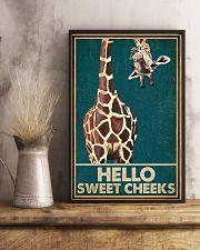 Retro Green Giraffe Hello Sweet Cheeks 16x24 Poster lifestyle-poster-3
