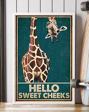 Retro Green Giraffe Hello Sweet Cheeks 16x24 Poster lifestyle-poster-4