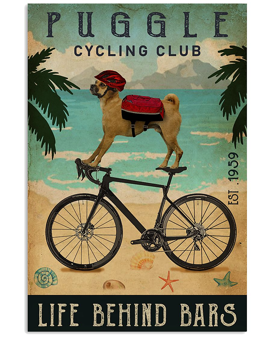Cycling Club Puggle 11x17 Poster