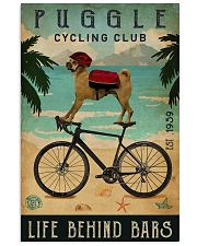 Cycling Club Puggle 11x17 Poster front