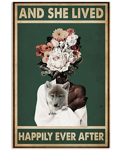 Retro Teal Live Happily Ever After By Wolf Flower