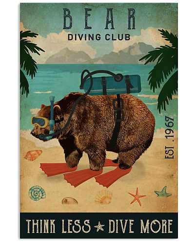 Vintage Diving Club Bear