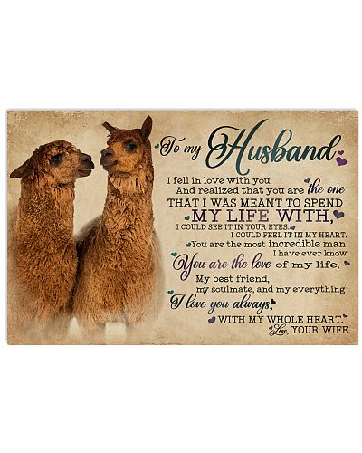 To My Husband I Fell In Love Alpaca