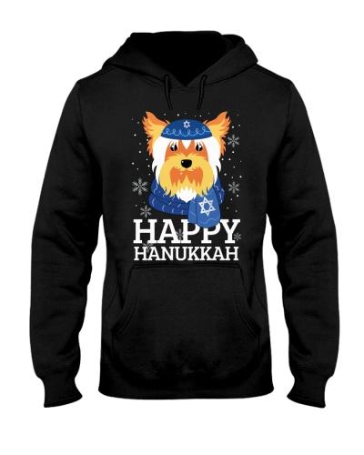 Happy Hanukkah Yorkshire Terrier
