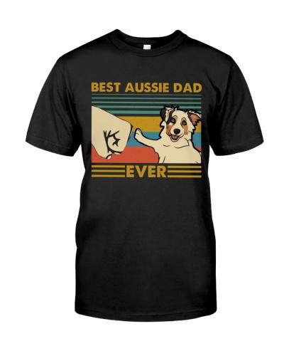 Retro Blue Best Australian Shepherd Dad Ever
