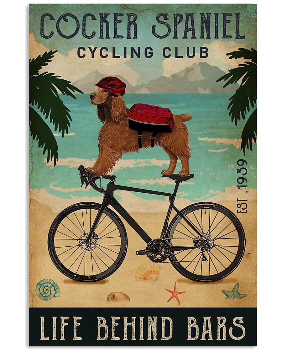 Cycling Club Cocker Spaniel 11x17 Poster