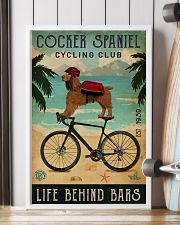 Cycling Club Cocker Spaniel 11x17 Poster lifestyle-poster-4