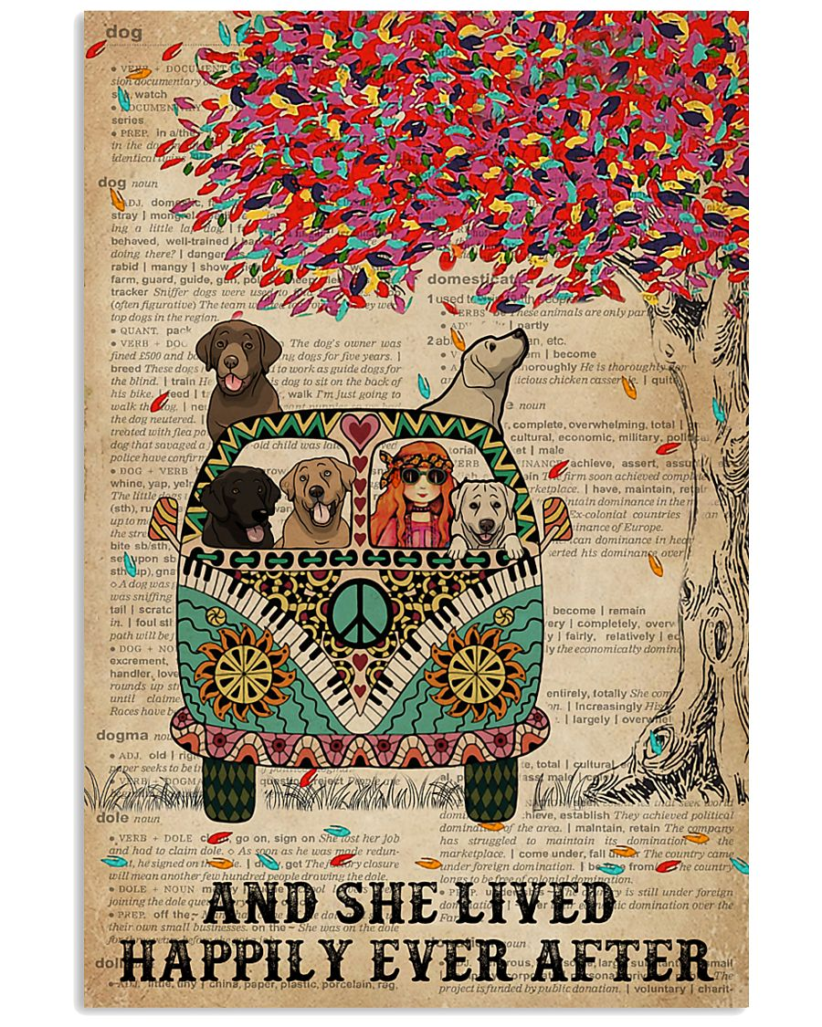Dictionary She Lived Happily Labrador Retriever 11x17 Poster