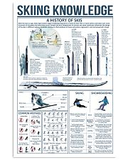 Blue Skiing Knowledge 16x24 Poster front