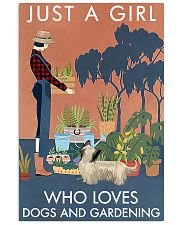 Vintage A Girl Loves Gardening And Skye Terrier 11x17 Poster front