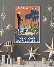 Vintage A Girl Loves Gardening And Skye Terrier 11x17 Poster lifestyle-holiday-poster-1