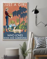 Vintage A Girl Loves Gardening And Skye Terrier 11x17 Poster lifestyle-poster-1