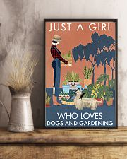 Vintage A Girl Loves Gardening And Skye Terrier 11x17 Poster lifestyle-poster-3