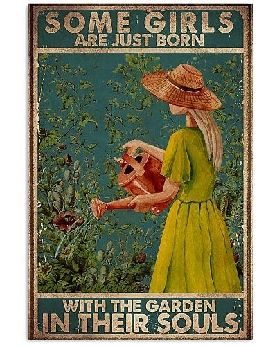 Retro Teal In Their Souls Gardening