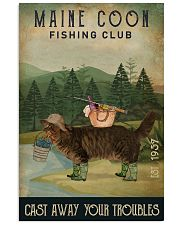 Fishing Cast Away Maine Coon 16x24 Poster front