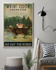 Fishing Cast Away Maine Coon 16x24 Poster lifestyle-poster-1