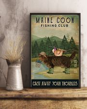 Fishing Cast Away Maine Coon 16x24 Poster lifestyle-poster-3