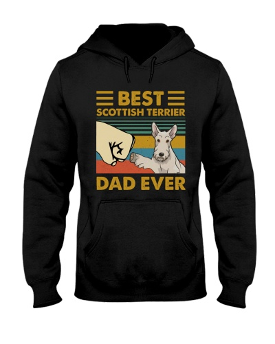 Retro Blue Best Scottish Terrier Dad Ever