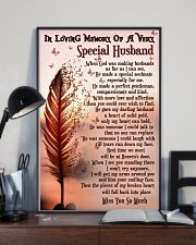 In Loving Memory Of My Husband Butterfly 16x24 Poster lifestyle-poster-2