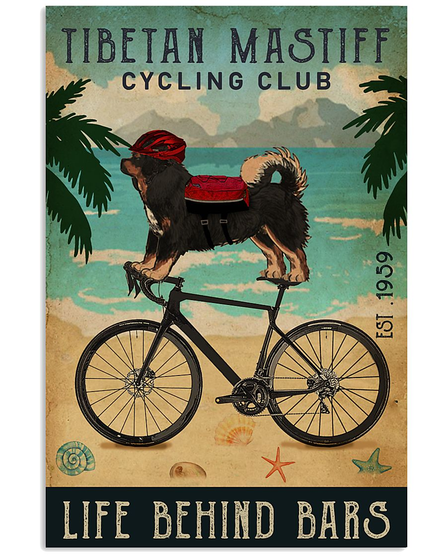 Cycling Club Tibetan Mastiff  11x17 Poster