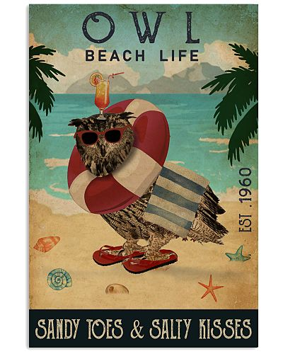 Vintage Beach Cocktail Life Owl