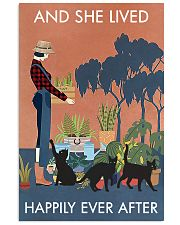 Vintage And She Lived Happily Gardening Black Cat 11x17 Poster front