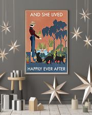 Vintage And She Lived Happily Gardening Black Cat 11x17 Poster lifestyle-holiday-poster-1