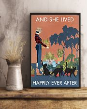 Vintage And She Lived Happily Gardening Black Cat 11x17 Poster lifestyle-poster-3