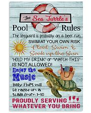 Sea Turtle Pool Rule  16x24 Poster front