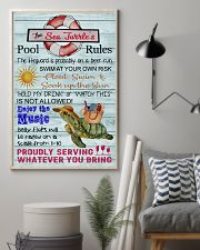 Sea Turtle Pool Rule  16x24 Poster lifestyle-poster-1