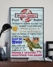 Sea Turtle Pool Rule  16x24 Poster lifestyle-poster-2
