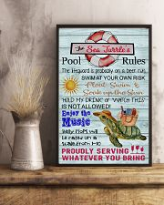 Sea Turtle Pool Rule  16x24 Poster lifestyle-poster-3