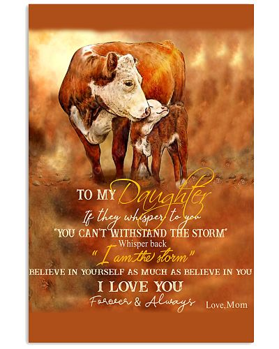 Mom To My Daughter I Am The Storm Cow