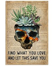 Blue Earth Find What You Love Skull Succulent 11x17 Poster front