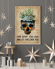Blue Earth Find What You Love Skull Succulent 11x17 Poster lifestyle-holiday-poster-1