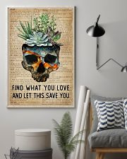 Blue Earth Find What You Love Skull Succulent 11x17 Poster lifestyle-poster-1