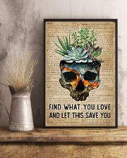 Blue Earth Find What You Love Skull Succulent 11x17 Poster lifestyle-poster-3