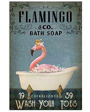 Vintage Bath Soap Flamingo 11x17 Poster front