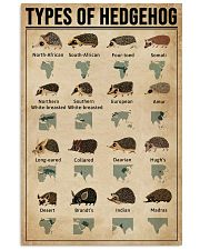 Types Of Hedgehog 11x17 Poster front