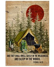 Forest Bible Sleep In The Woods Camping 16x24 Poster front
