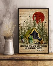 Forest Bible Sleep In The Woods Camping 16x24 Poster lifestyle-poster-3