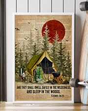 Forest Bible Sleep In The Woods Camping 16x24 Poster lifestyle-poster-4